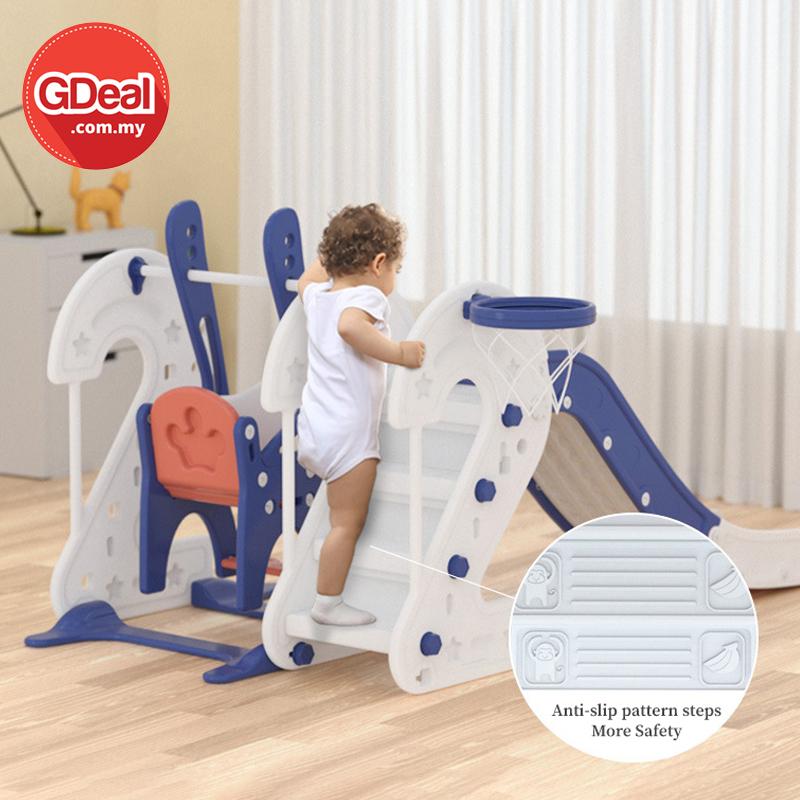 GDeal Children Indoor Slide Multifunction Slide Swing Combination Small Amusement Park Baby Toy