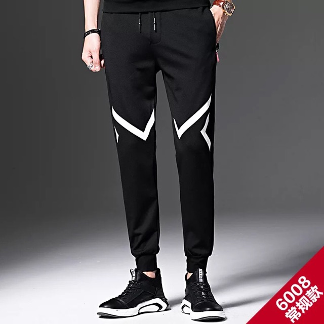 [M~4XL]Men Clothing Sport Pants Long Pants春季男士裤子男韩版潮流百搭休闲裤运动裤男宽松束脚裤卫裤春秋款