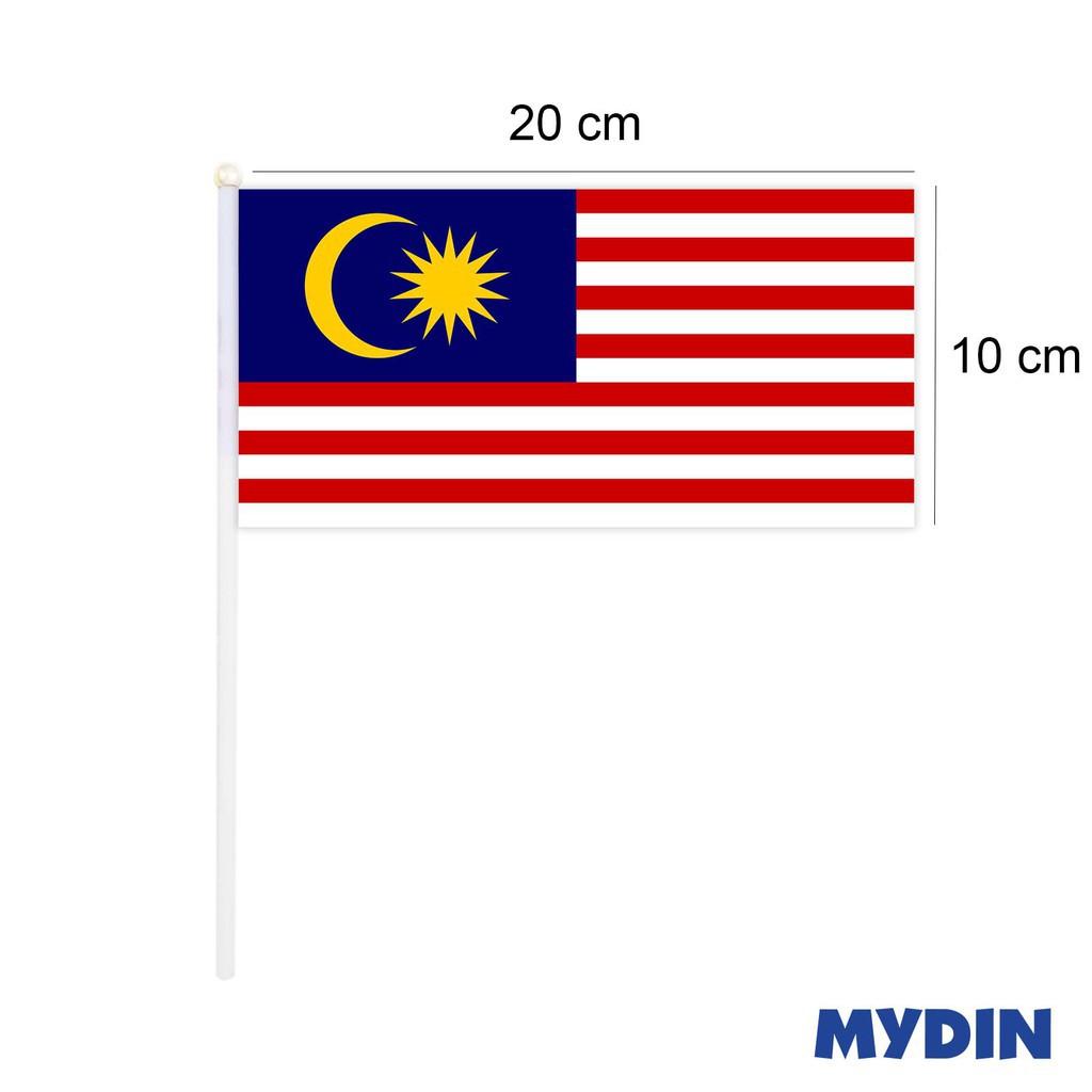 Malaysia Hand Flag Q19597 (10cm x 20cm) - 10 Pcs