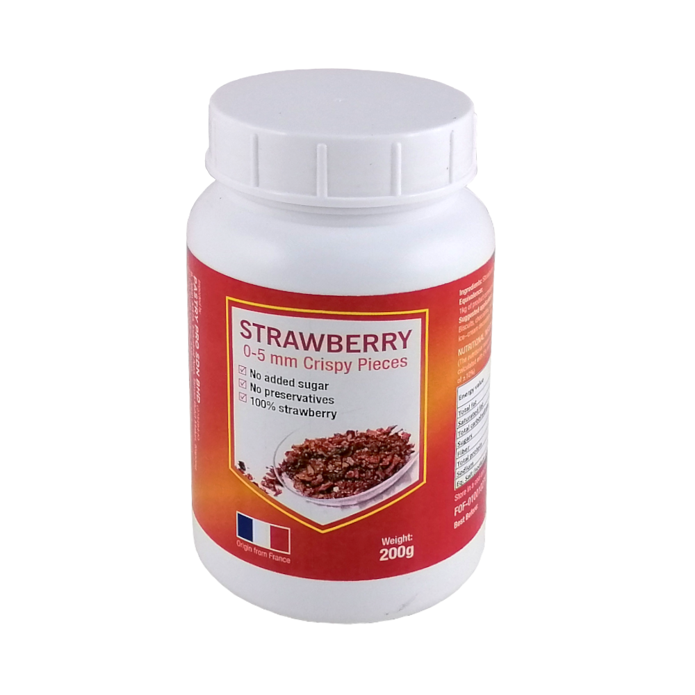 Strawberry Fruit Crisp Pieces, Dehydrated, 200 g