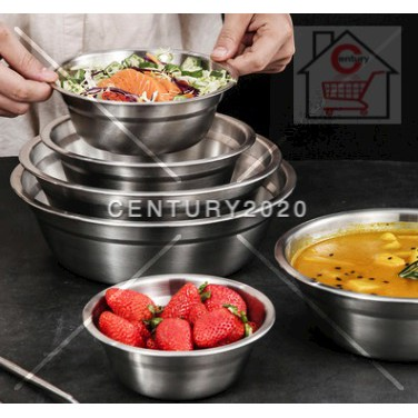 RIMEI Stainless Steel Anti-Scalding Double-Layer Heat Insulation Soup Plates Household 0.8 Thickness Non-Magnetic