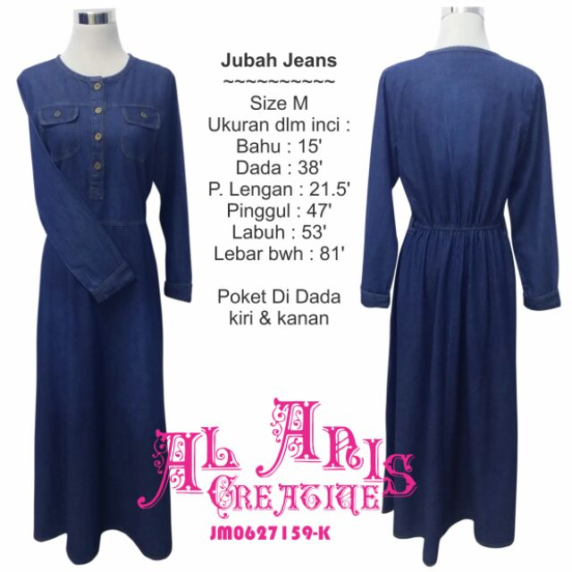386a806f9c Denim Jeans Hawa Dress Set C