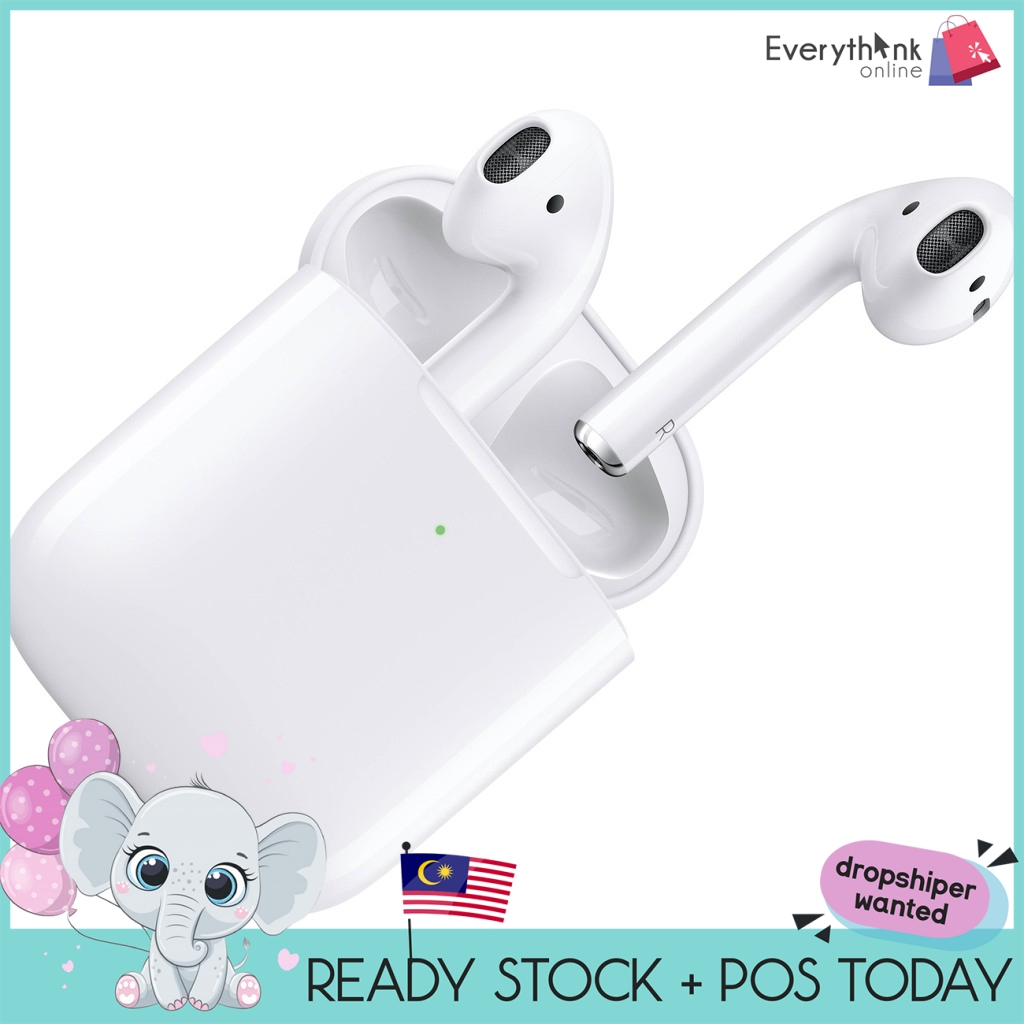 EVON HIGH COPY AIRPODS BLUETOOTH WIRELESS CLEAR SOUND GOOD BASS QUALITY WITH CHARGING CASE CABLE