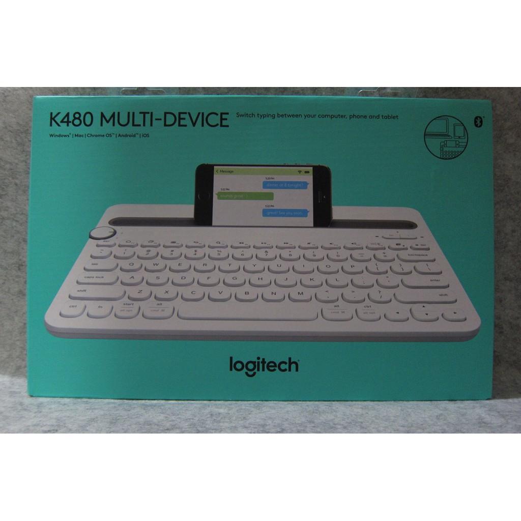 Logitech K480 Bluetooth Multi Device Keyboard White Shopee Malaysia