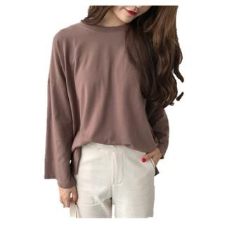 【reday stock】women clothing blouse loose  korean blouse long sleeve T-shirts