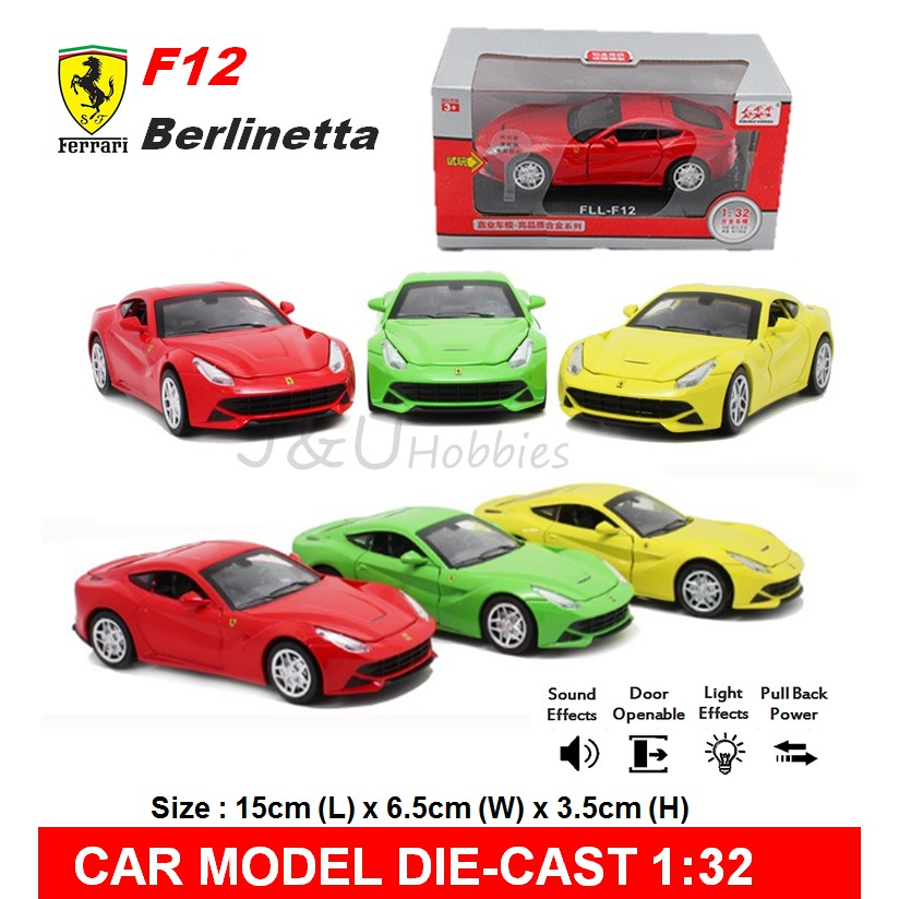 Decor And Design Ferrari Decor And Design 2pcs La Ferrari Diecast Model Car Pull Back Led Light Vehicle Playset Toy  Decor Racing Cars