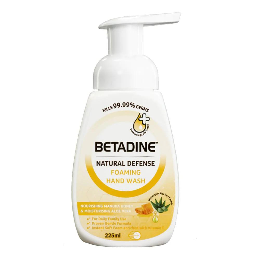 BETADINE Natural Defense Foaming Hand Wash - Honey 225ml
