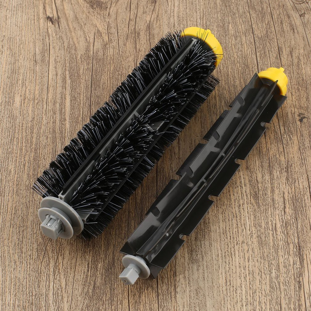 Professional Sale 3pcs Cleaning Robot Side Brush Vacuum Cleaner Filter One Rolling Brush Glue Cleaner Flat Comb Brushes Circular Rolling Brush Vacuum Cleaner Parts