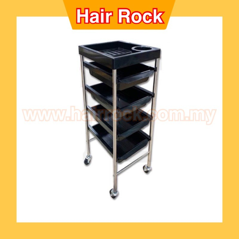 Professional Salon Trolley 4 Tier Storage Rolling Carts(S6)