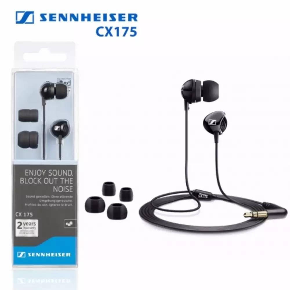 Sennheiser Cx 175 S Wired In Ear Headphone Black Shopee Malaysia Earphone Sport