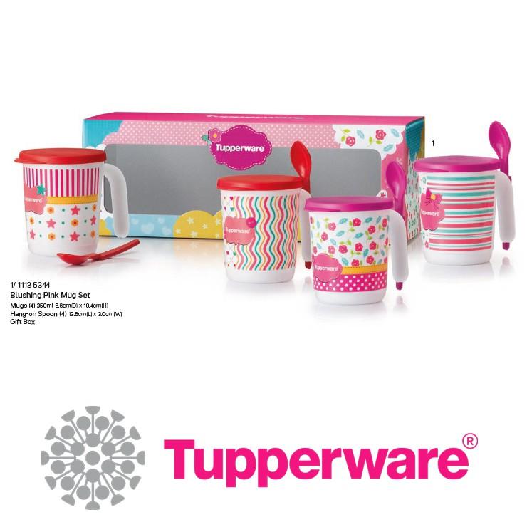 [Ready Stocks] Blushing Pink Mugs Set Tupperware