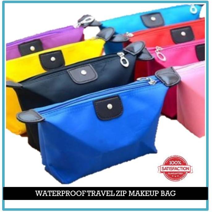 Waterproof Multi-Function Travel Zip Pouch Make-Up Or Toiletries Bag / Beg Solek Serbaguna