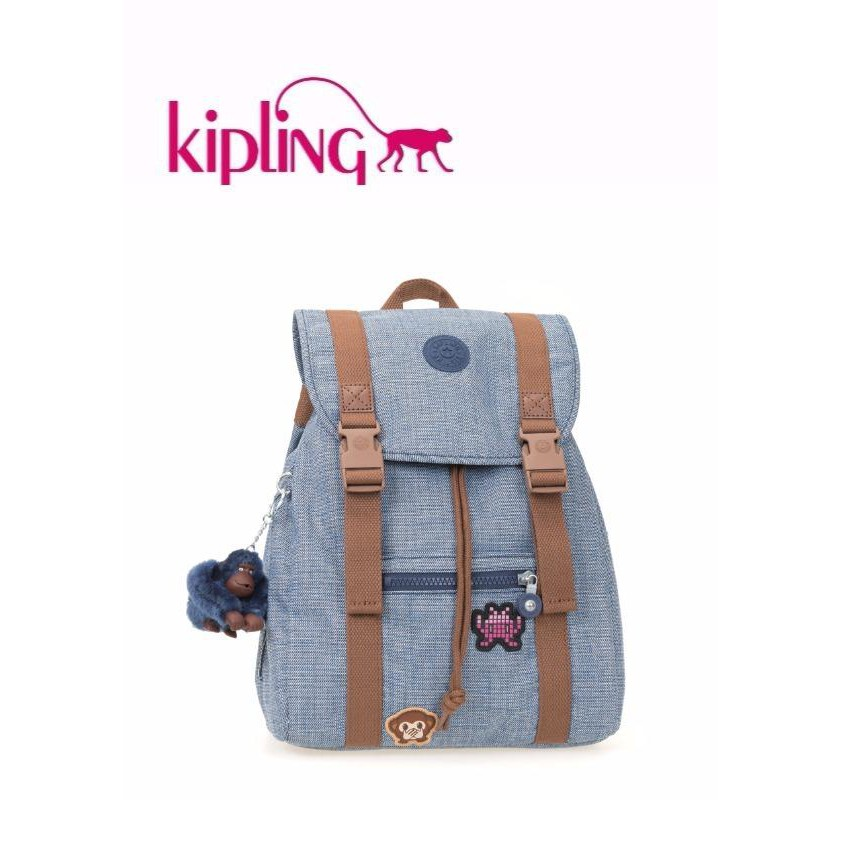 f1f55f38ab Kipling Adaven Backpack - Cotton Bl Patch (Large)