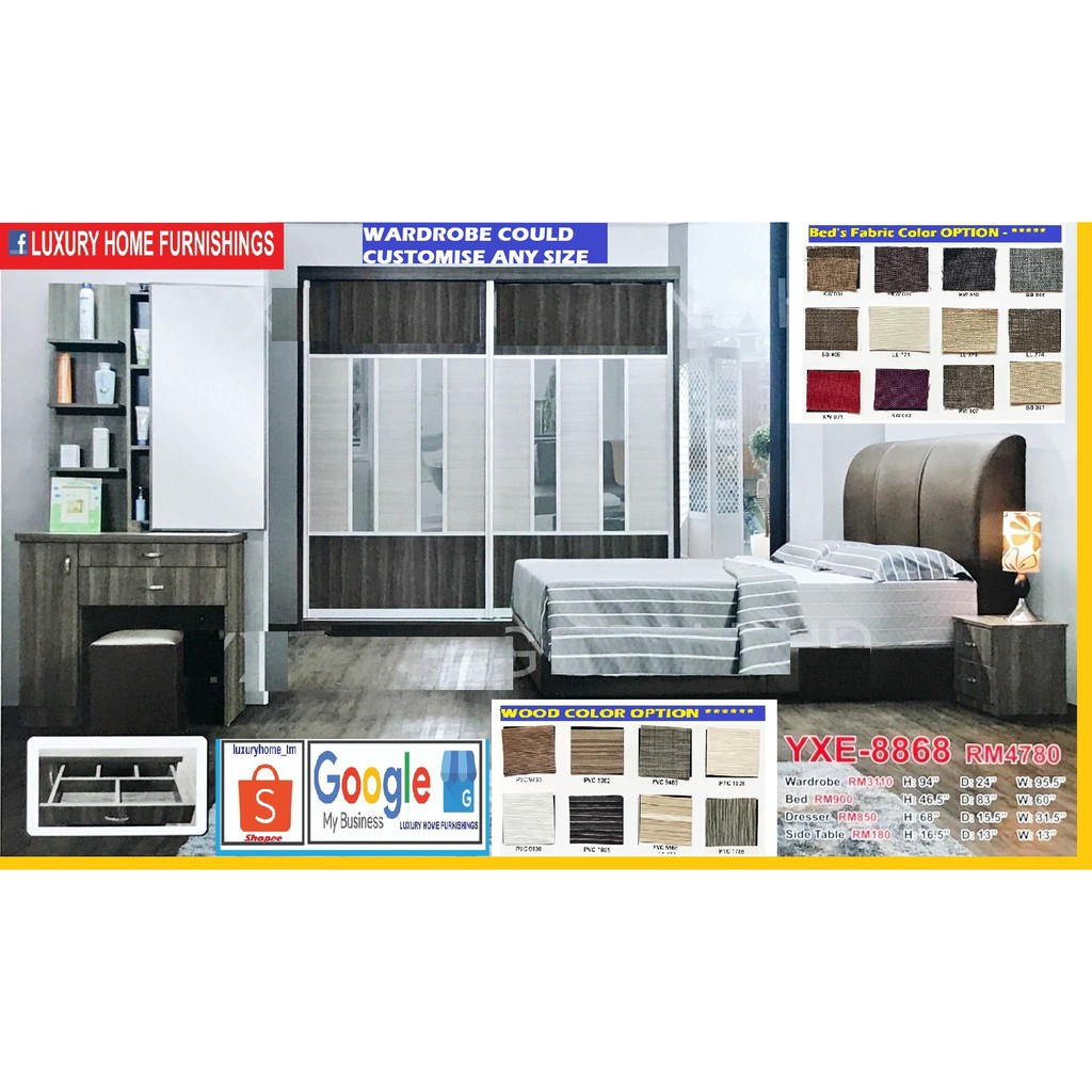 BED ROOM SET, 8'X8' FULL SET, EXCLUSIVE LAUNCHING SALE