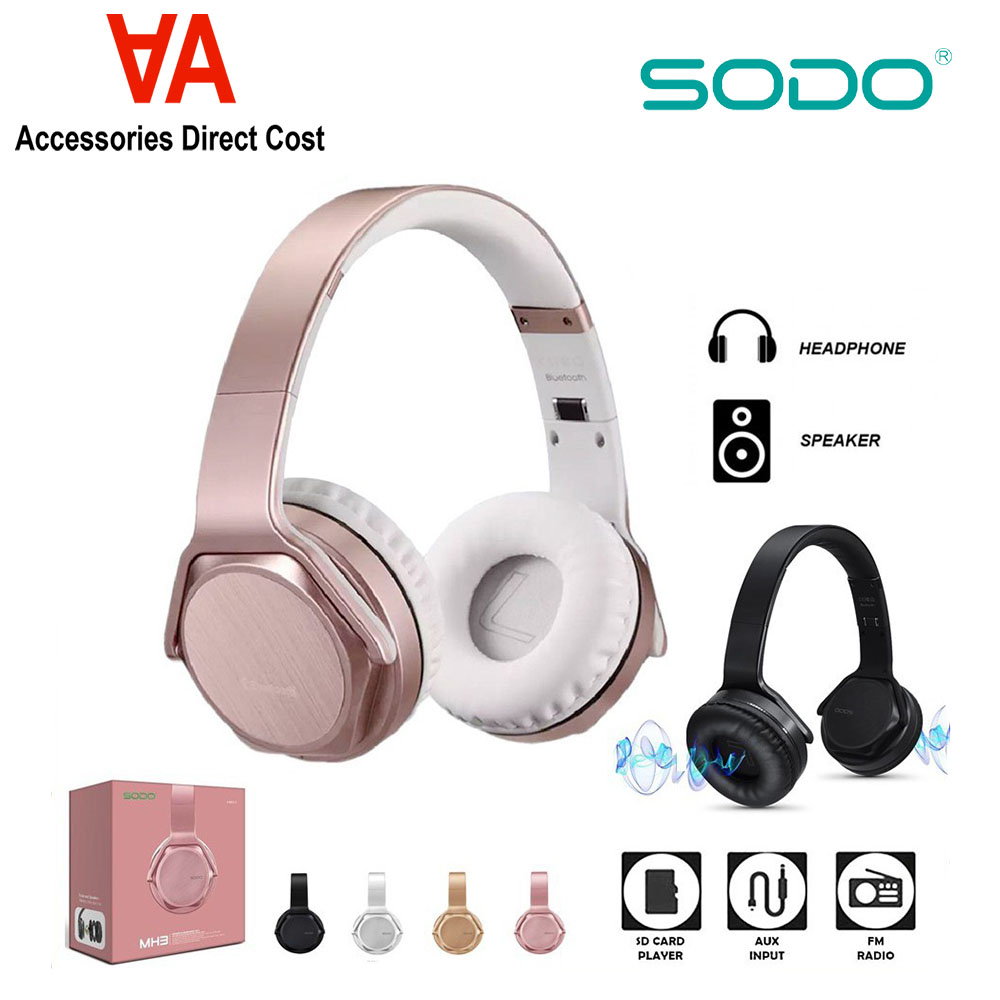 SODO MH3 Bluetooth Headphones Speaker 2 in 1 Over Ear Bluetooth 5.0 Speaker Foldable Hi-Fi Stereo Headphones