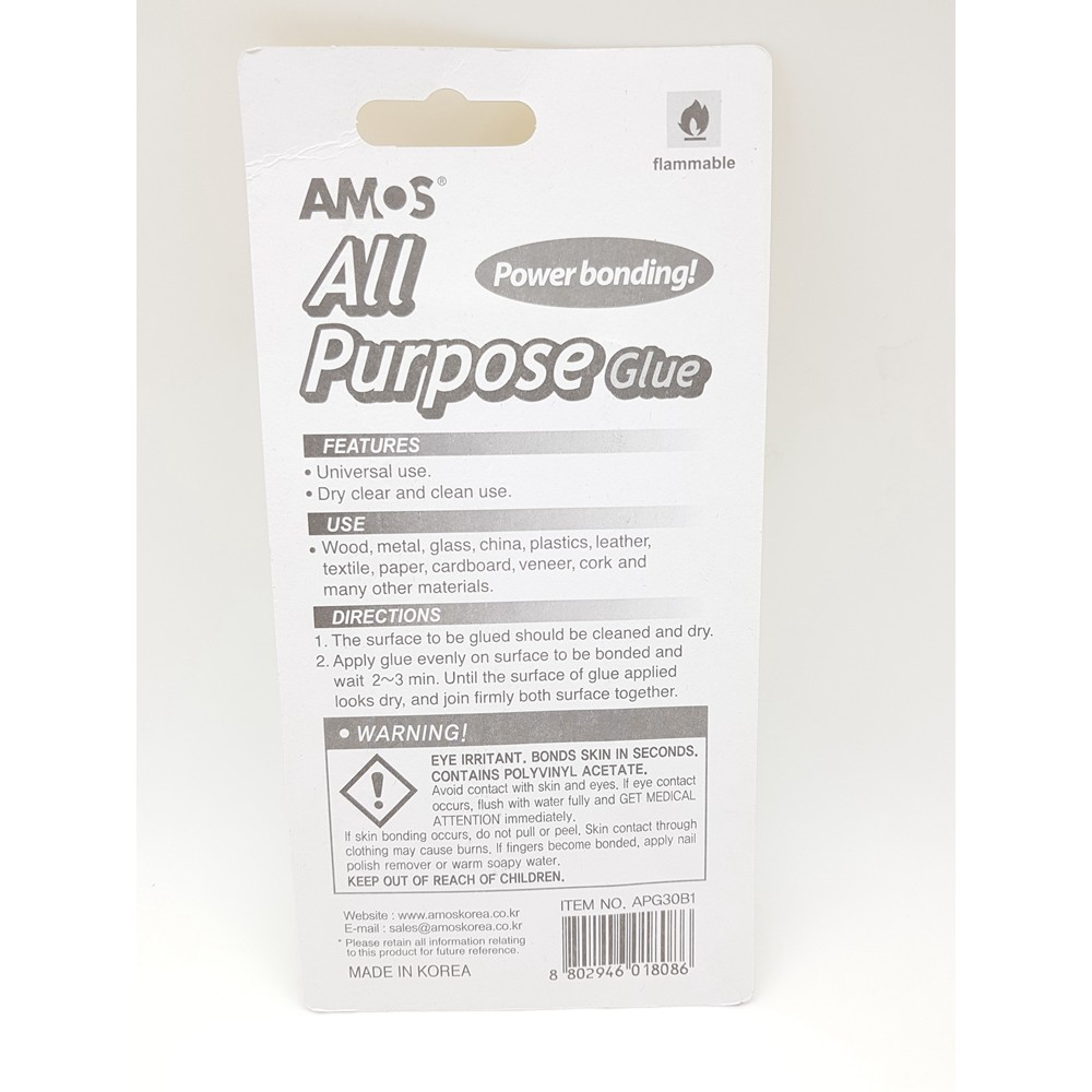 Amos All Purpose Glue 30 ml