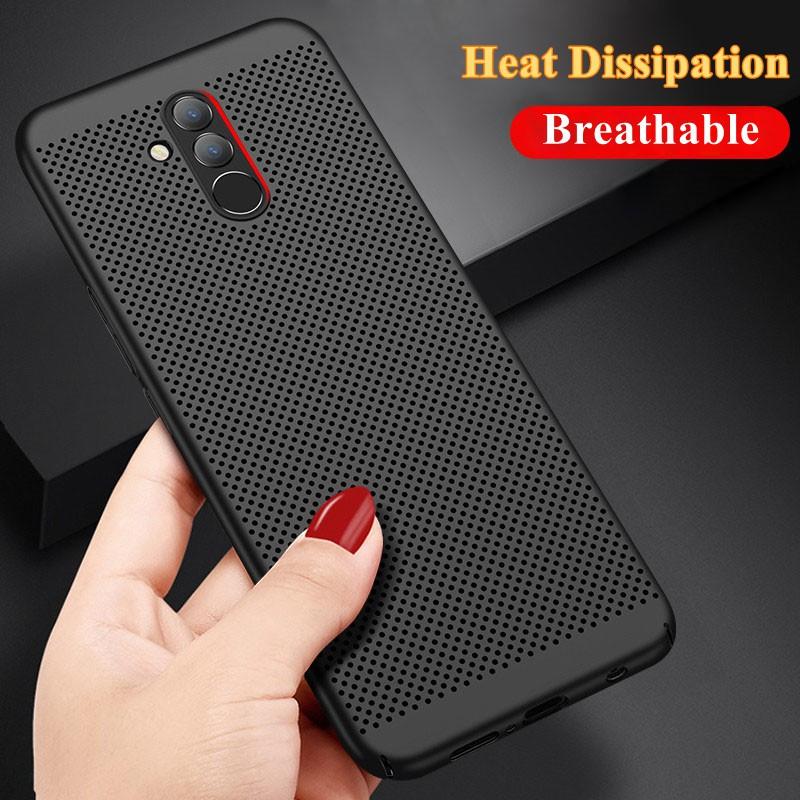 100% autentico 52de9 9ad2d Huawei Mate 8 9 10 20 Pro 20X Case Heat Dissipation Casing Hard PC Back  Cover