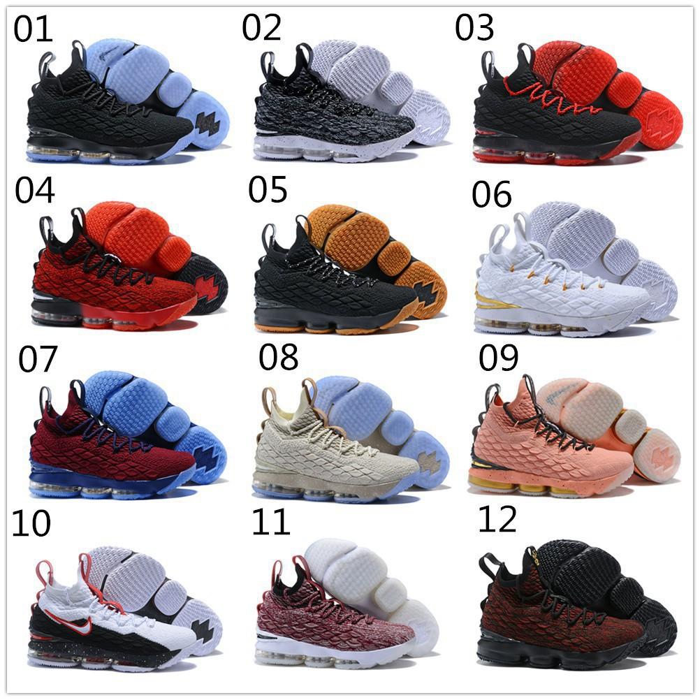 a767068a5db 2018 Original Nike Lebron James 15 LBJ15 Men Basketball Shoes Black Gole  Red