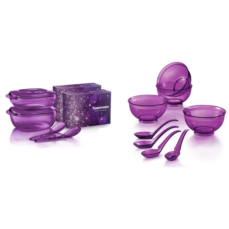 Tupperware Purple Royale Crystalline Set + PWP
