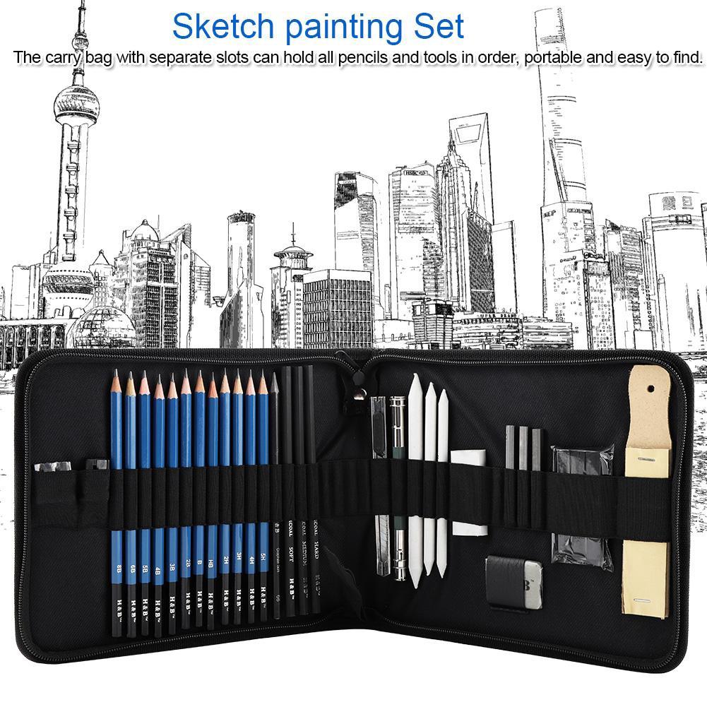 Sketching Pencils 32pcs/Set Professional Drawing Pencils Kit