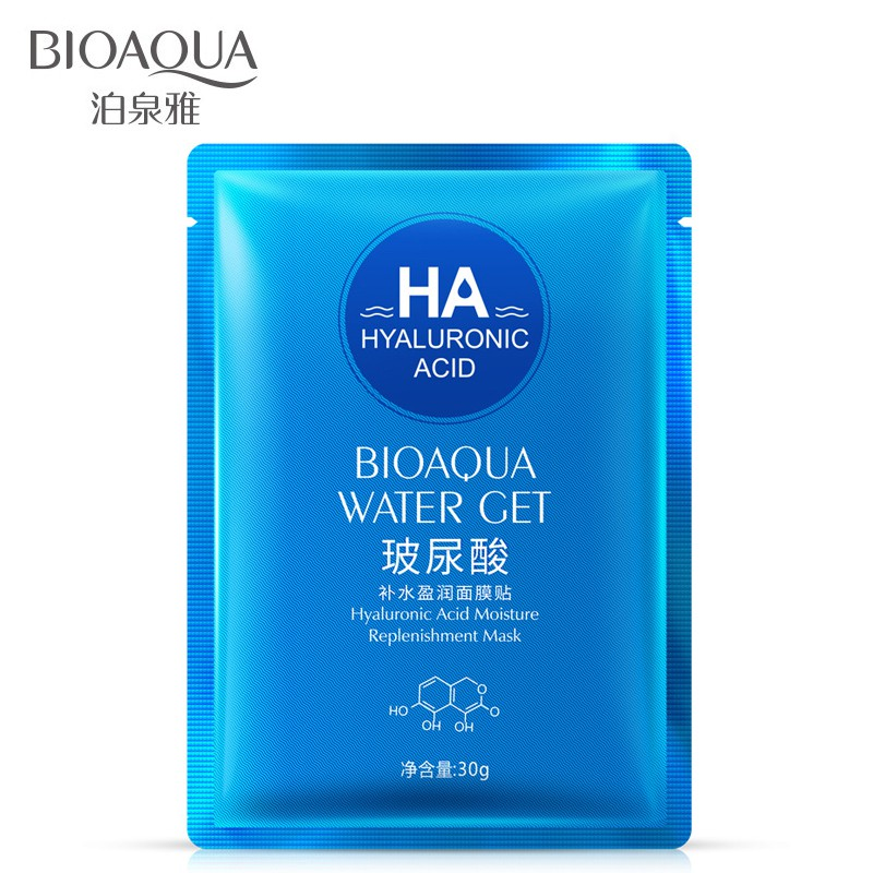 [READYSTOCK] Bioaqua Water Get Hyaluronic Acid Mask | Shopee Malaysia