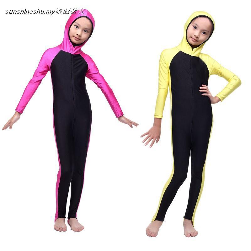 1eeb90cc216 ProductImage. ProductImage. SS 3in1 Kids Children Muslim Swimming Suit baju  renang biru Muslimah clothes