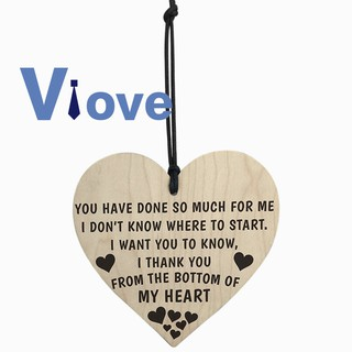 Thank You From The Bottom Of My Heart Wooden Hanging Plaque