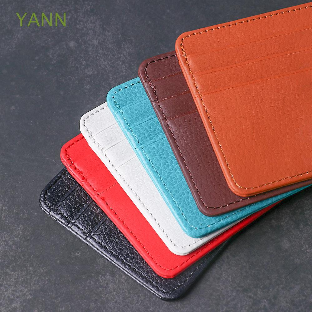 Unisex Travel Litchi Pattern Leather Coin Bag Card Package
