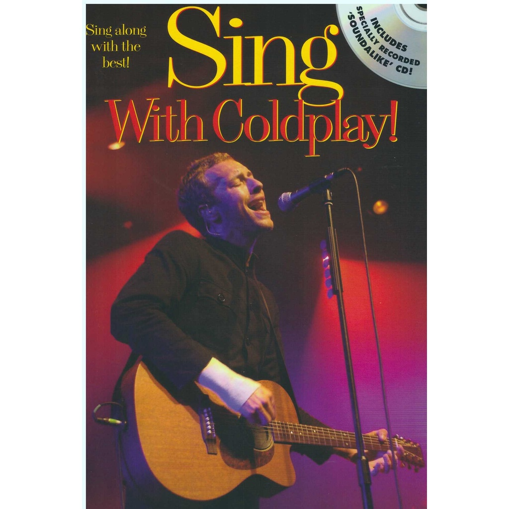 Sing With Coldplay! (25Cm X 17CM) / Guitar Book / Guitar Chord Book / Song Book / Voice Book