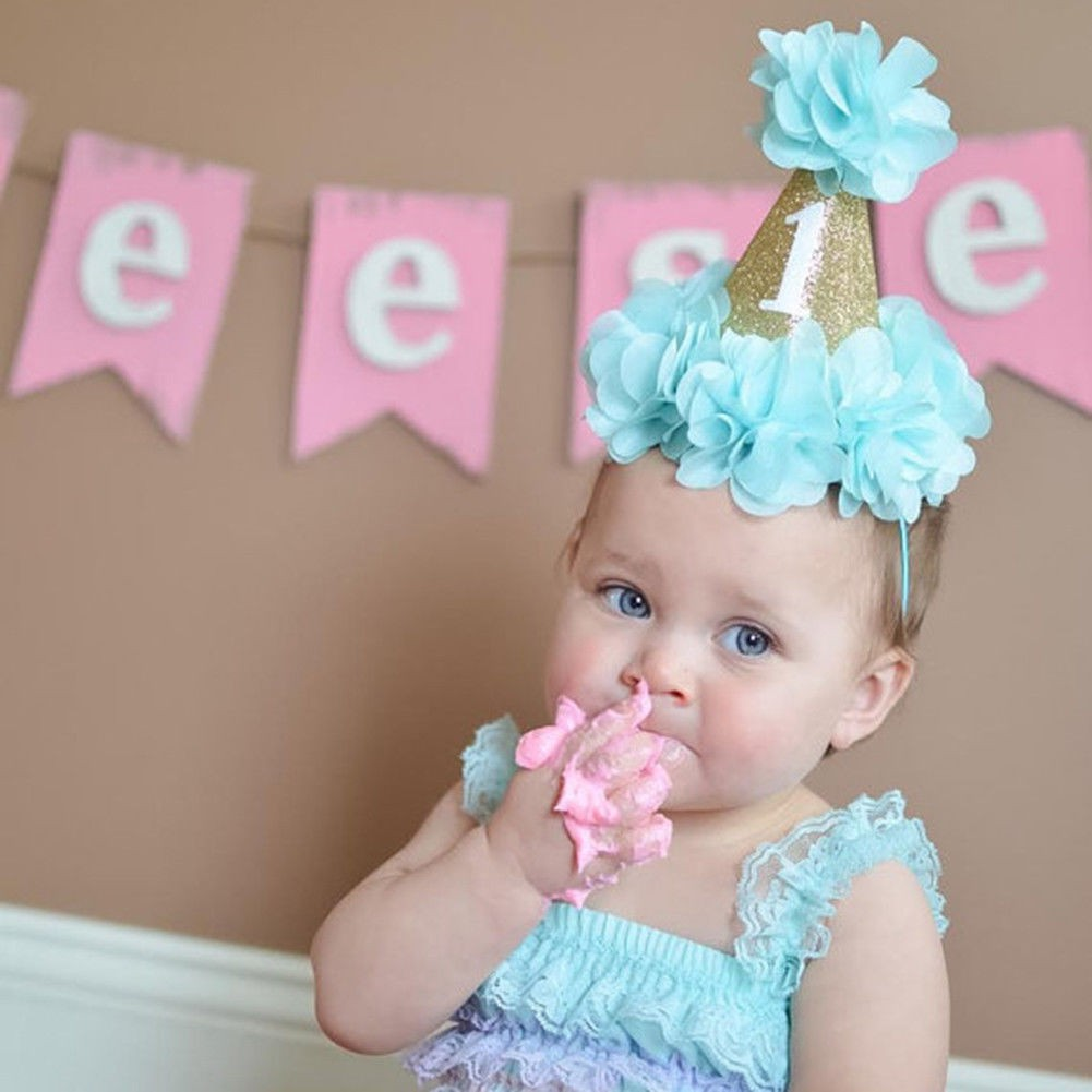 9586bf707 Fashion Baby Boys Girl Flower Crown Party Hat Headband Hairband Hair  Accessories