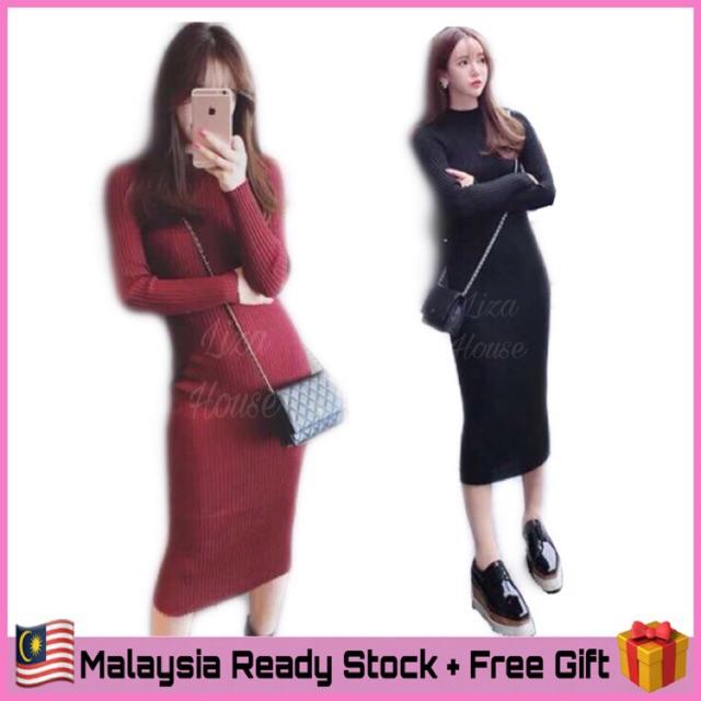 fd9dcb7520 (KL🇲🇾Ready Stock) Knitted Dress LH25