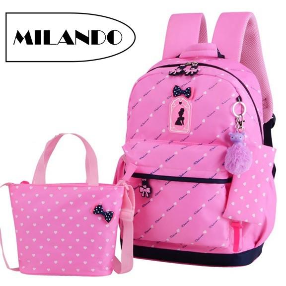 898816ab65 Kids girl primary school buy 1 get 3 cute cushion padded backpack mc435