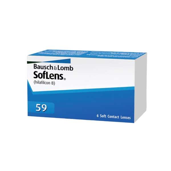 Bausch & Lomb: SofLens59 บลอช แอนด์ ลอมบ์ คอนแทคเลนส์ใส รายเดือน: 1 กล่อง (3 คู่) - BV
