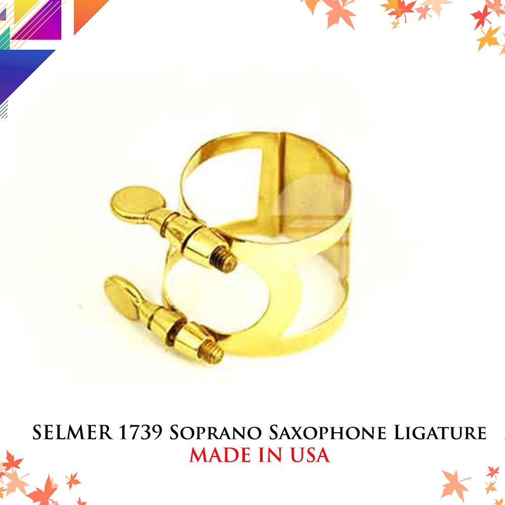 New Style, one screw Lacquer Selmer Alto Sax Ligature
