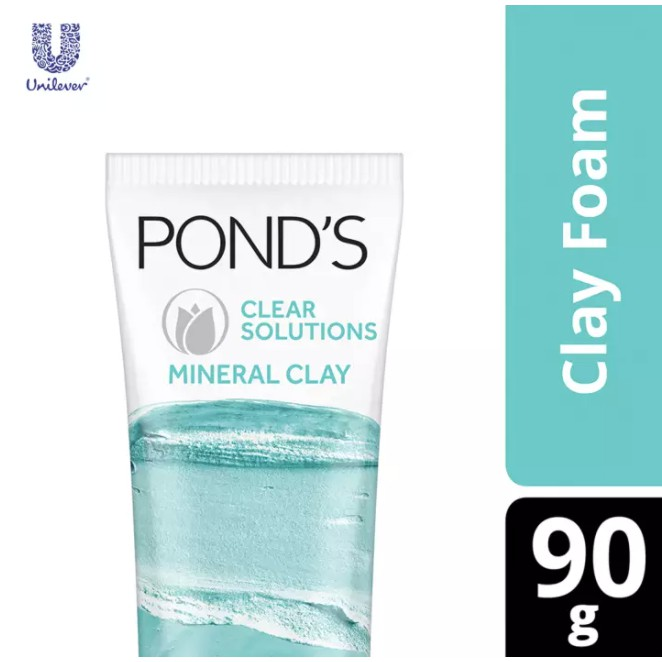Pond's Clear Solutions Mineral Clay Face Cleanser 90g Limited