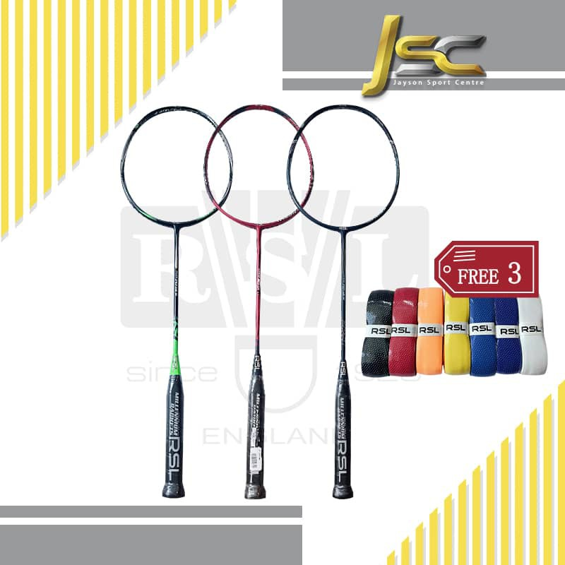 RSL FLEX /NANO/TURBO POWER RACKET [ BUY 1pcs Racket, FREE 3 GRIP ] Excluded string & Cover.