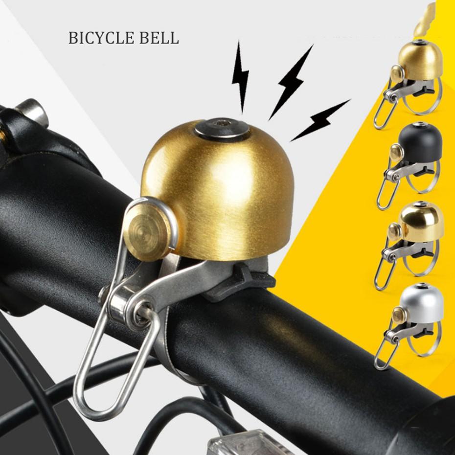 ROCKBROS Bike Bell MTB Road Bicycle Handlebar Ring Bell Copper Horn 1 Pc Silver