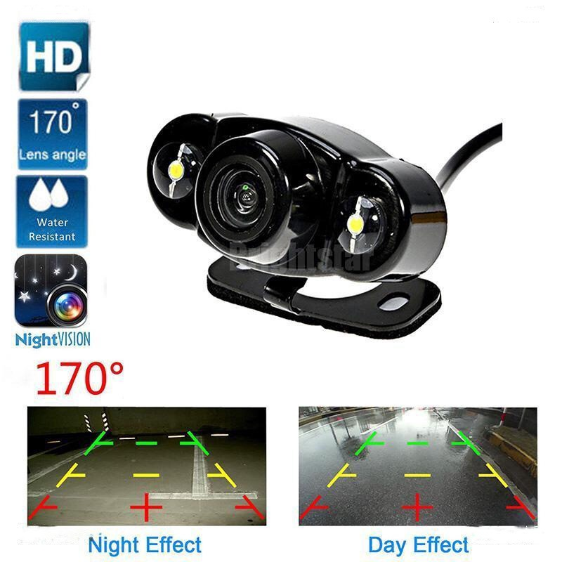 Car Rear Full Side 360° View Camera Lens CCD Backup Parking Front Dual Use Hole