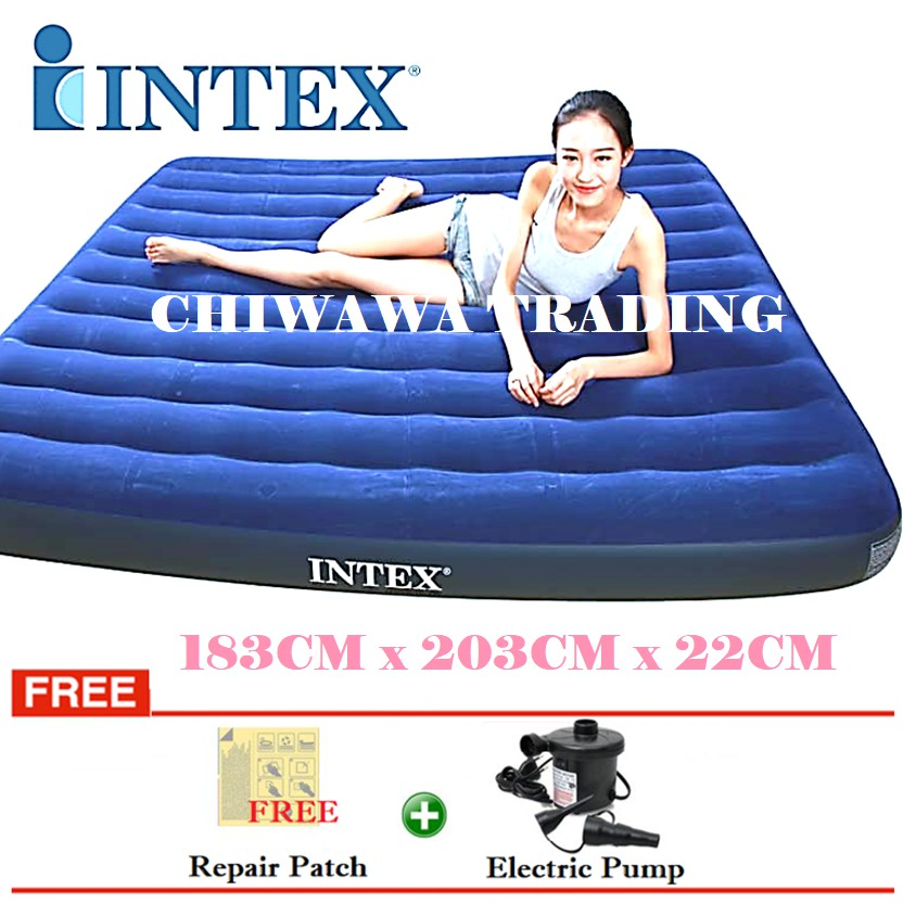 PROMOTION 64755  INTEX Inflatable Bubble Air Mattress Relax Massage Air Bed Sofa