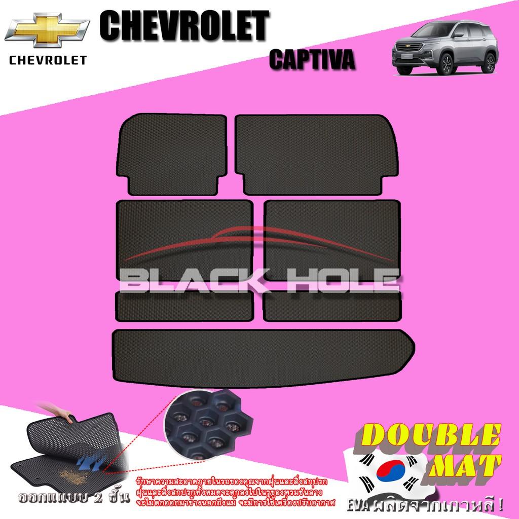 Chevrolet Captiva 7 ที่นั่ง 2020-ปัจจุบัน  ที่เก็บสัมภาระท้ายรถ 7ชิ้น Captiva พรมเข้ารูปสองชั้นแบบรูรังผึ้ง Blac