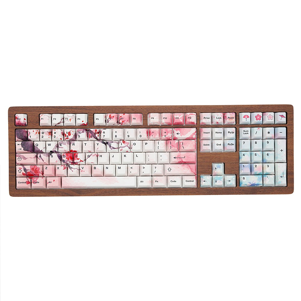 PBT Keycap Cross Shape ,108 OEM Height 87//104//108 Key Customizable Keycap for MX Switch