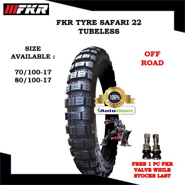 FKR TAYAR SF22 TUBELESS (100% ORIGINAL) 70/100-17, 80/100-17
