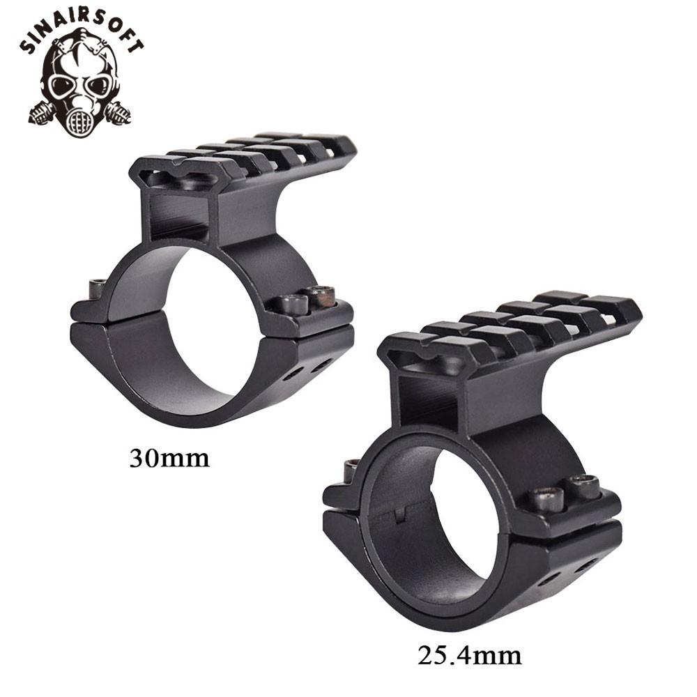 "Alloy Sight Scope Barrel Mount Ring 25.4mm 1/"" Weaver Picatinny Rail 20mm Adapter"