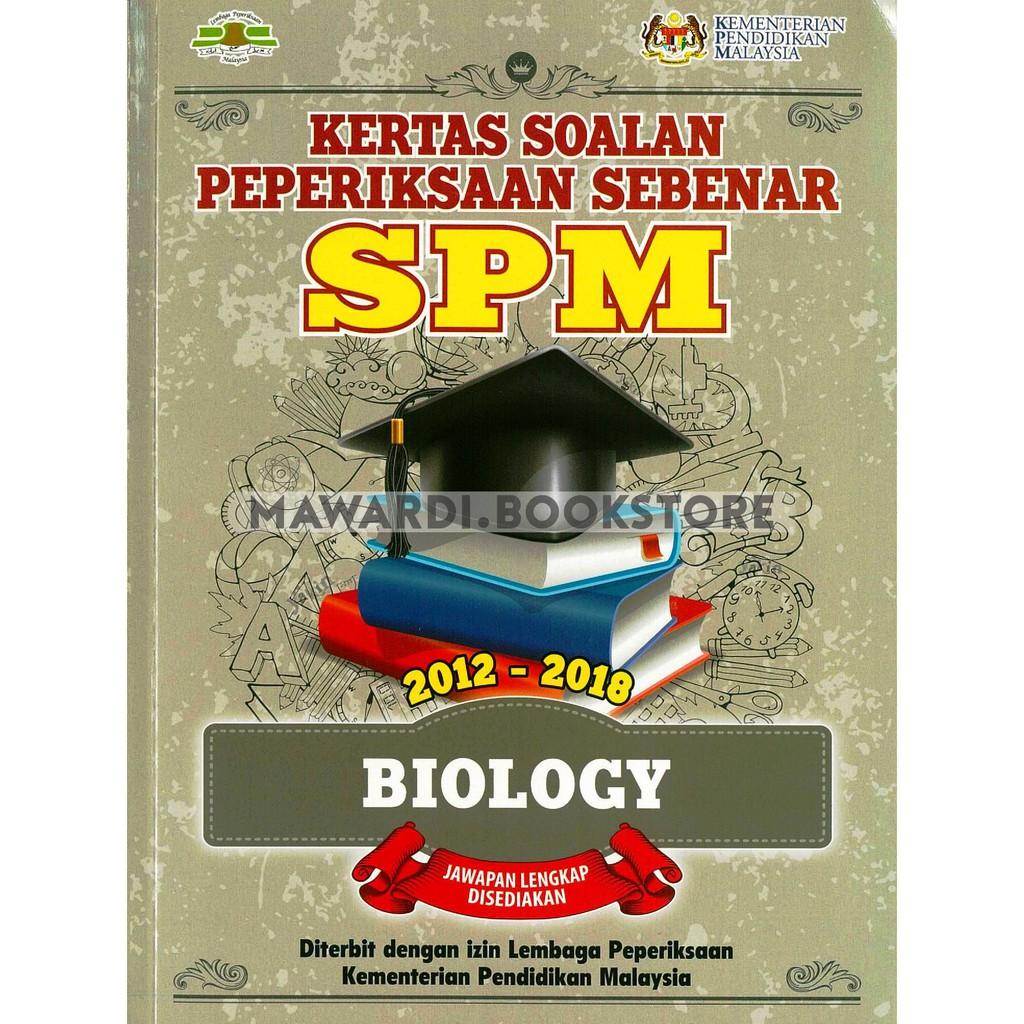 Kertas Soalan Peperiksaan Sebenar Spm Biology 2012 2018 Shopee Malaysia