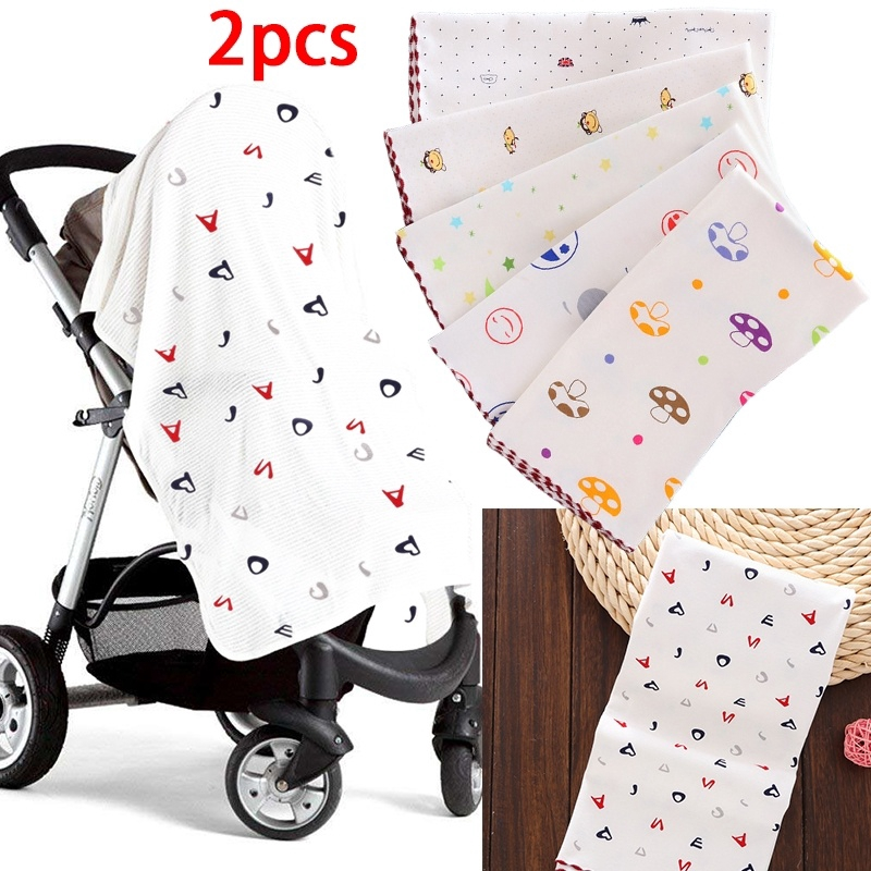 BABY 100/% COTTON CELLULAR BLANKET PRAM MOSES CRIB COT BED WRAP