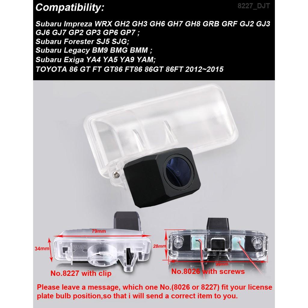 Car Reverse camera for Subaru Impreza WRX GH2 Forester SJ5 Legacy BM9 toyota 86