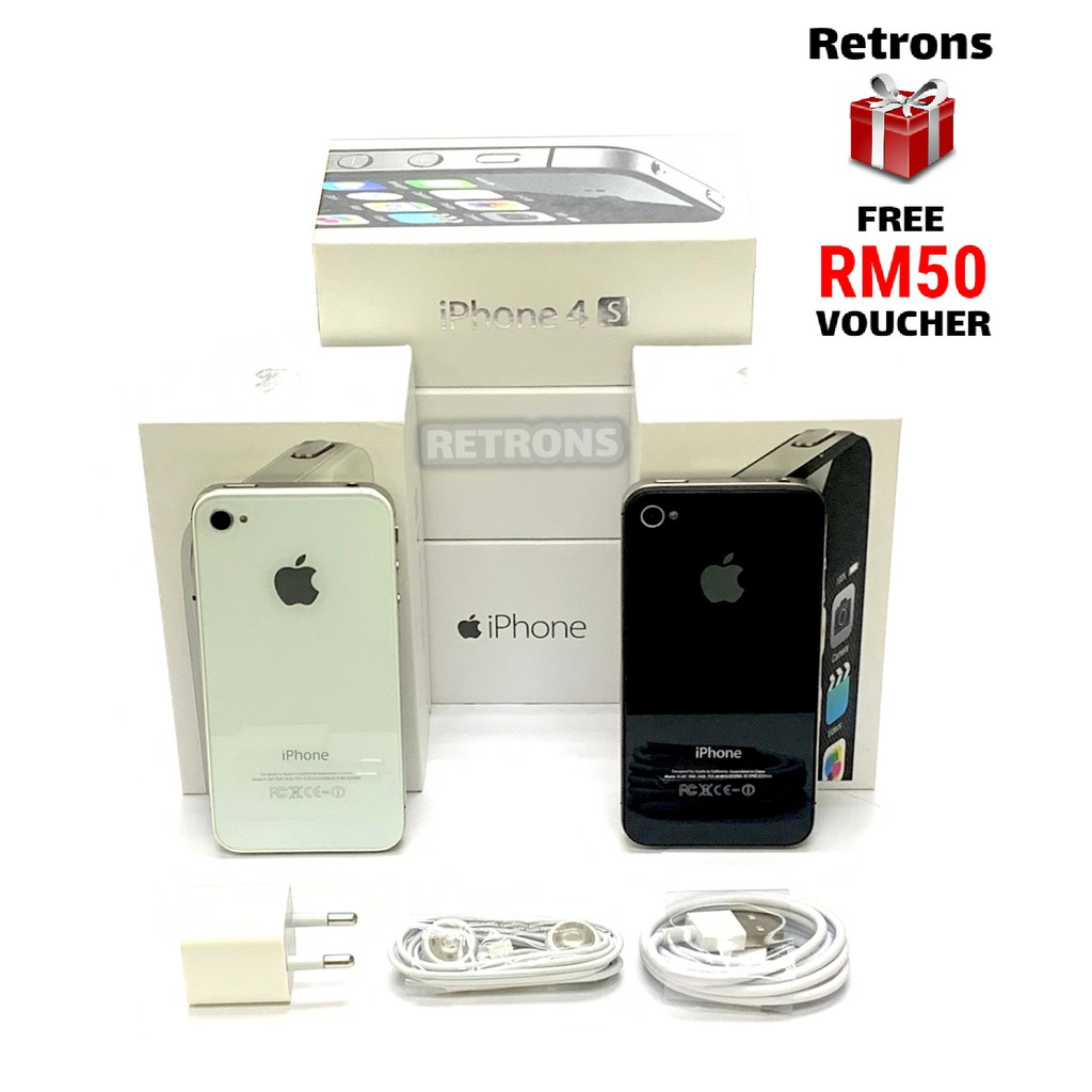 [11:11] 🇲🇾 Original Used Apple iPhone 4S 8GB 16GB 32GB 64GB 9.7/10 Condition + [1 Month Warranty] FREE RM50 Voucher