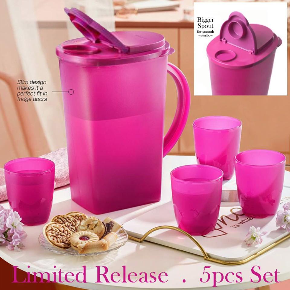 Tupperware Camellia Collection Serve ware Set/Mug/Cawan/Jug