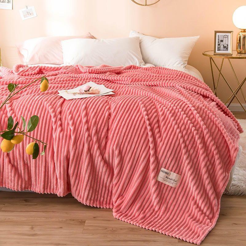 Soft Fluffy Warm Milk Fleece Silky Velvet Blanket Throw King Size 200x220cm