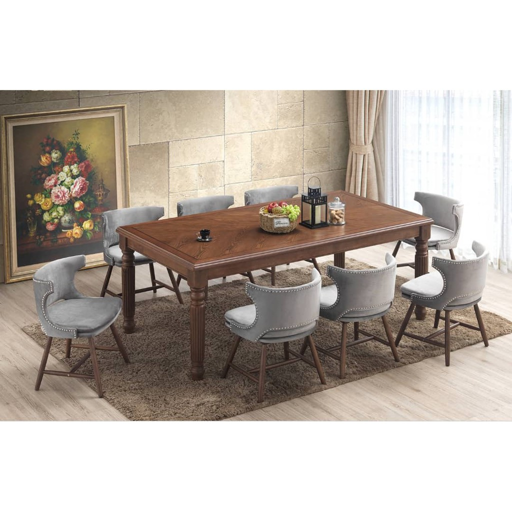 Angelo 8 Seater Dining Set Meja, 8 Seat Dining Room Table